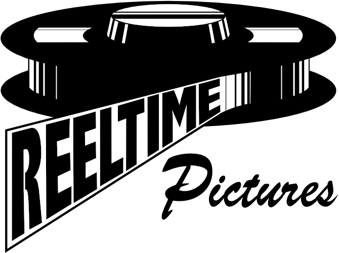 Reeltime Pictures logo: an old film reel with name